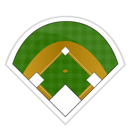 catcher baseball: Autocollant sur le terrain de baseball