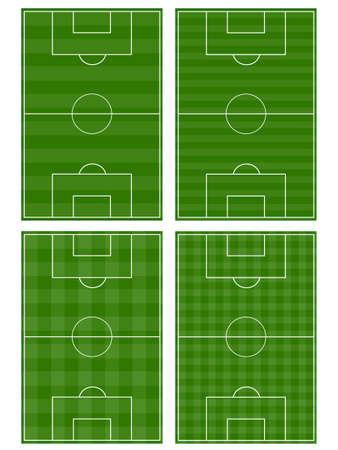 サッカー フィールドのセット  イラスト・ベクター素材