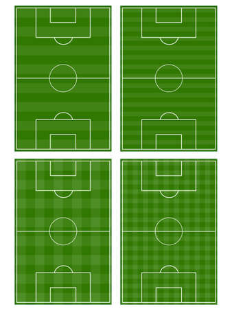 Set of Football Fields Vector
