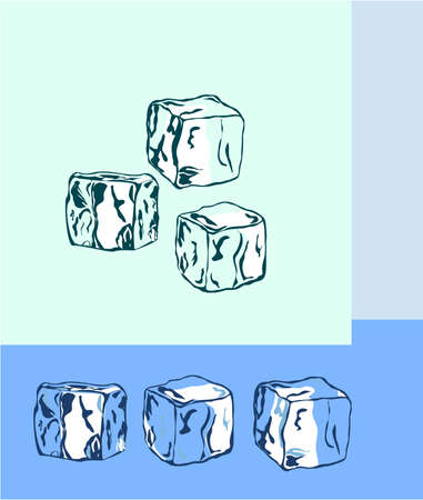 refrigerated: Ice Cubes Illustration