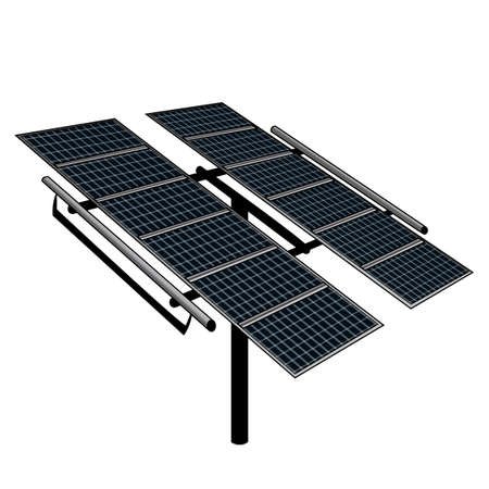 electric cell: Solar Tracker Illustration