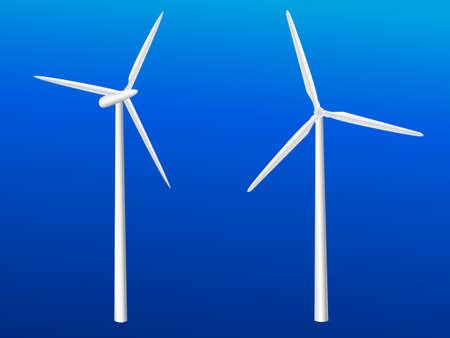 Wind Turbine Illustration