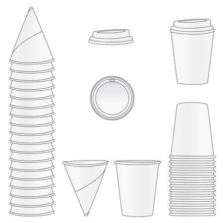 Paper Cups Stock Vector - 11105907