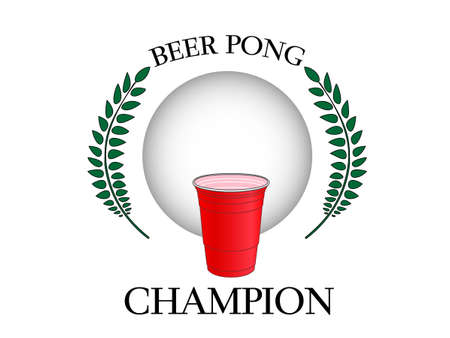 beer drinking: Beer Pong Champion