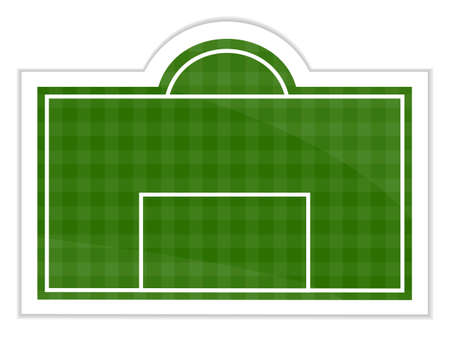 Football Field Sticker Illustration