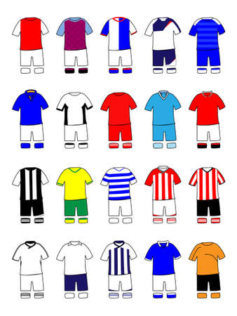 English League Kits 2011/2012 Stock Vector - 11429934