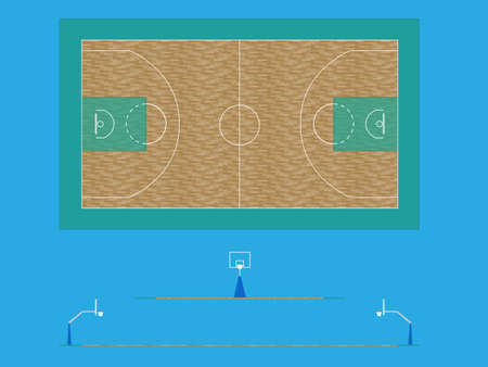 Basketball Court Stock Vector - 11429940