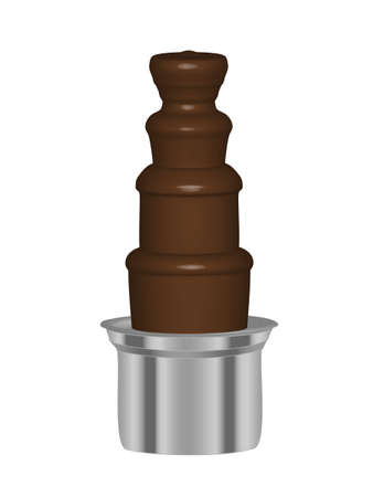 Chocolate Fountain 3d Vector