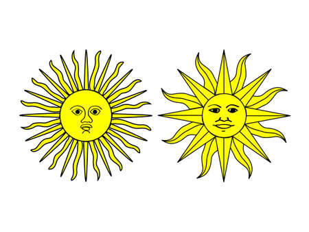 bandera de uruguay: Sun Ilustraciones
