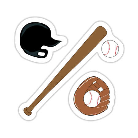 Baseball Sticker Vector