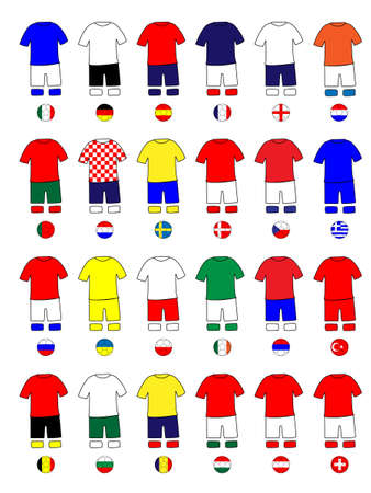 Europe Jerseys Football Kits Vector
