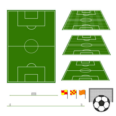 soccer field: Football Fields with Section