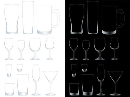 Transparent Glasses with EPS 10 Opacity Mask Vector