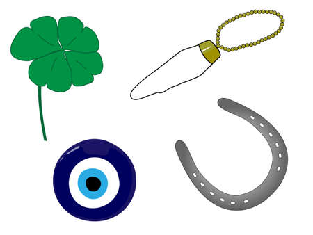 Amuletos de la Suerte Foto de archivo - 14536254