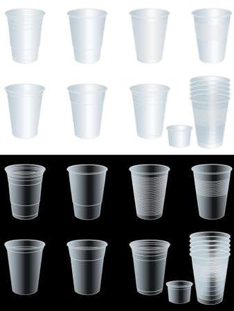 EPS 10 不透明度マスクと透明カップ