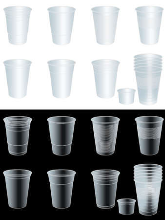 purify: Transparent Cups with EPS 10 Opacity Mask Illustration