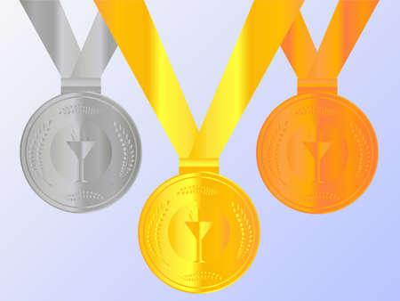 Medals Set 2 Ilustração