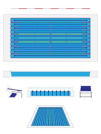 olympic size swimming pool vector