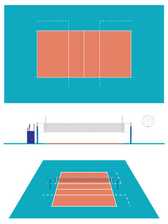 the court: Volleyball Court Illustration