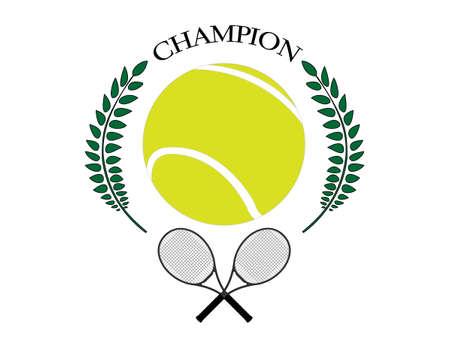 テニスのチャンピオン  イラスト・ベクター素材