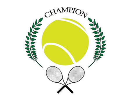 throwing ball: Tennis Champion