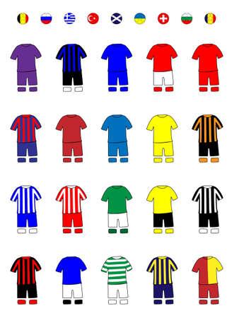 ヨーロッパのクラブのジャージ サッカー キット B
