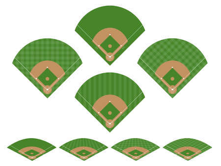 baseball diamond: Set of Baseball Fields