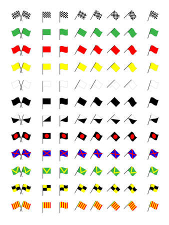 Karting Racing Flags Vector