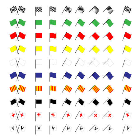 pits: Motorcycle Racing Flags