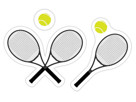 Tennis Sticker Stock Vector - 14954642