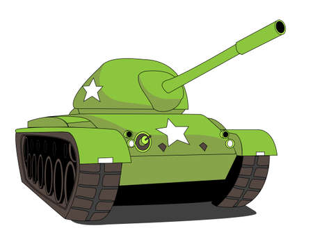 turret: Illustration of a Tank Illustration