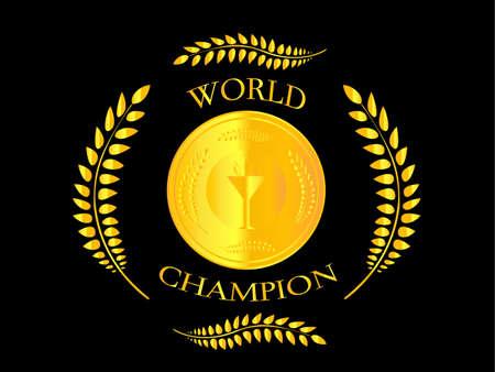 世界のチャンピオン  イラスト・ベクター素材