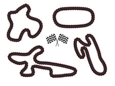 Race Tracks Vector