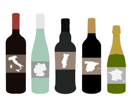 Wines of Europe Illustration