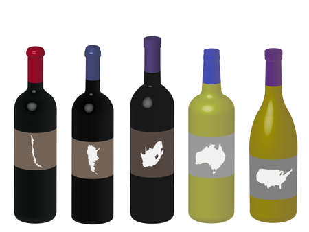 Wines of the World 3D Stock Vector - 15223396