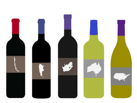 Wines of the World Stock Vector - 15496633