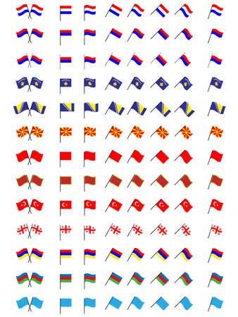 Flags of Europe 3  No Coats of Arms  Vector