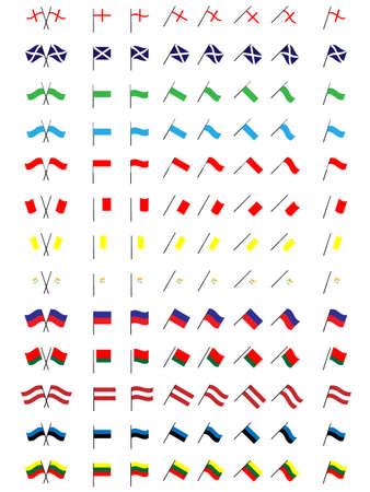 Banderas de Europa 4 No hay escudos de armas Foto de archivo - 15388239