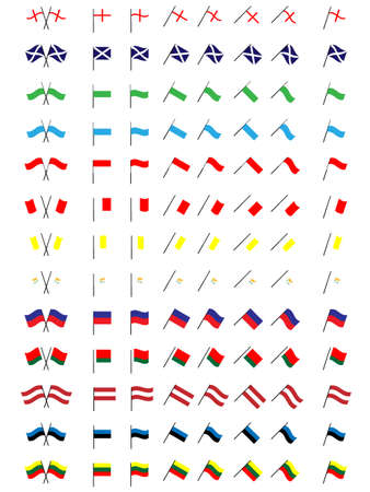 Flags of Europe 4  No Coats of Arms  Illustration