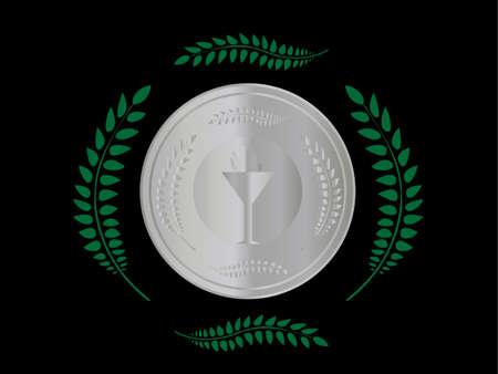 prata: Medalha de prata Ilustra��o