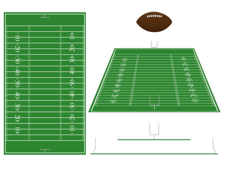 American Football Field with Sections and Perspective Stock Vector - 15388226