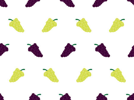 Grapes Background Seamless Pattern White 1 Stock Vector - 15388243