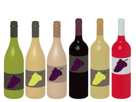 Different Kinds of Wine Bottles 3D Stock Vector - 15388247