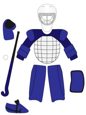 Field Hockey Keeper Equipment Kit