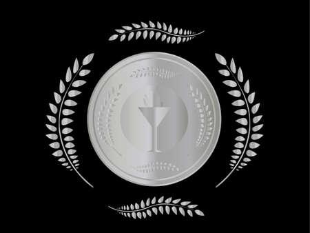 silver medal: Silver Medal 2 Illustration