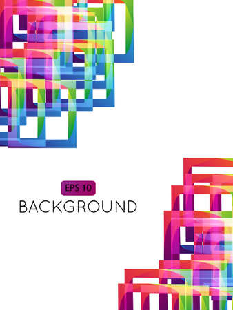 Abstract Background Squares  Illustration