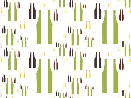 Beer Bottles in Halves Background Seamless Pattern Stock Vector - 15534406