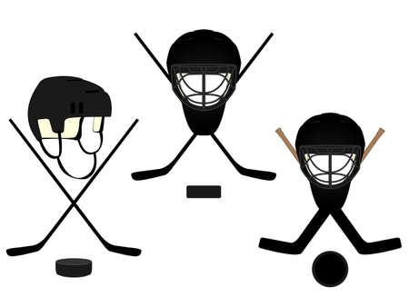 hockey rink: Hockey Escudos de Armas Vectores