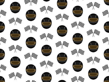 Racing Background Seamless Pattern Black