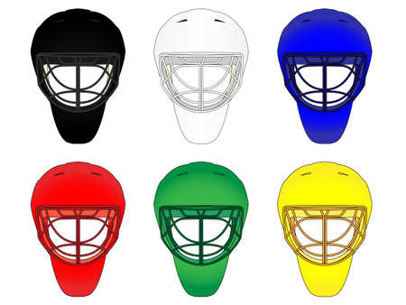 Hockey Masks in Different Colours Vector